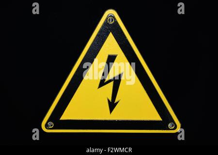 High voltage - black background - Stock Photo