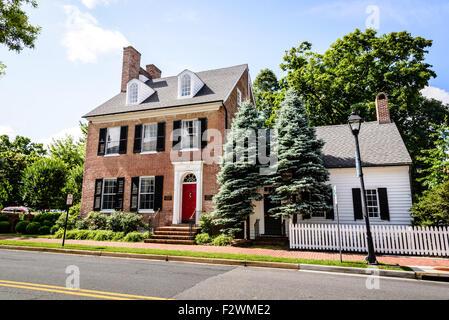 Mid-Shore Community Foundation, Bullitt House, 108 East Dover Street, Easton, Maryland - Stock Photo