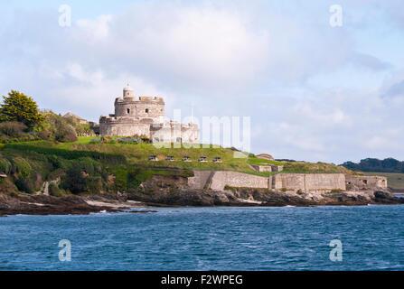 16th Century St Mawes Castle Cornwall England UK - Stock Photo