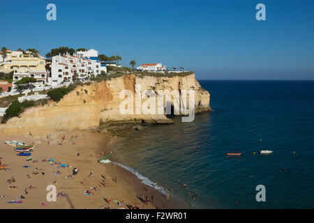 A view of Carvoeiro, Portugal - Stock Photo