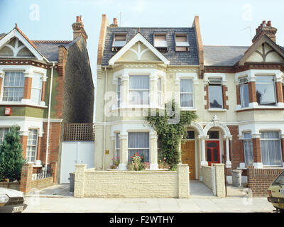 Houses With Bay Windows traditional victorian semi-detached house with bay window stock