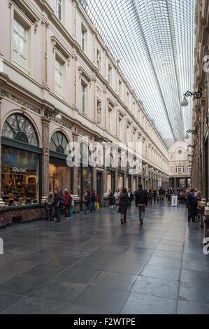 Belgium, Brussels, Galeries Royales Saint-Hubert - Stock Photo