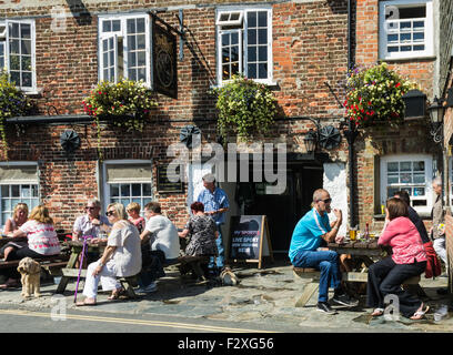 The Shipwright's Inn in Padstow - Stock Photo