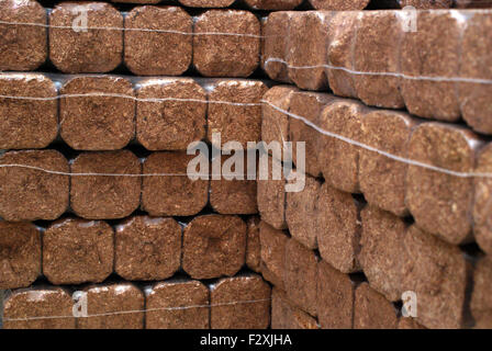 Wooden Briquettes With Fire Stock Photo 116718733 Alamy