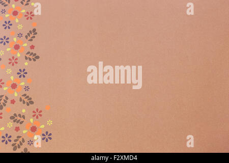 Pink seamless floral pattern photo shot - Stock Photo
