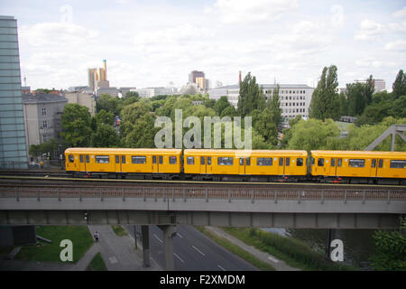 U-Bahn - Deutsches Technikmuseum, Berlin-Kreuzberg. - Stock Photo