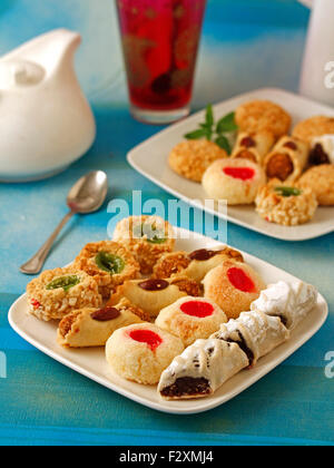 Moroccan Morocco pastry pastries marzipan sweet - Stock Photo