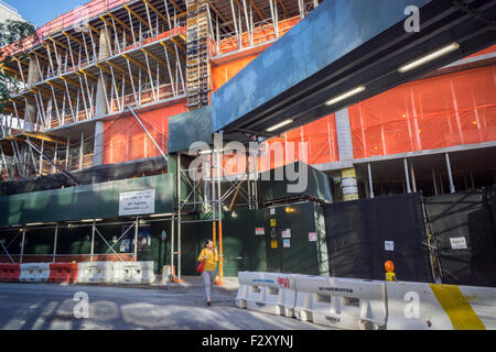 Construction of the Zaha Hadid designed condo along the High Line in West Chelsea in New York on Friday, September - Stock Photo