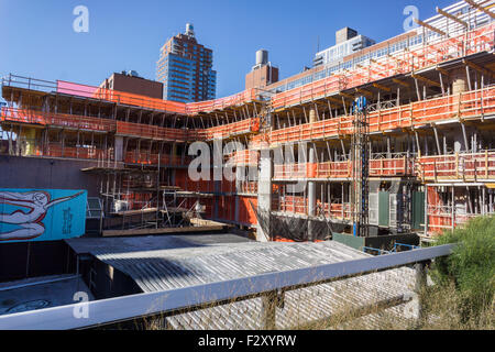 Construction of the Zaha Hadid designed condo along the High Line in West Chelsea in New York on Wednesday, September - Stock Photo