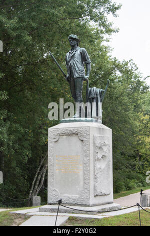 Minute Man statue by Daniel Chester French, Minute Man National Historical Park, Massachusetts. - Stock Photo