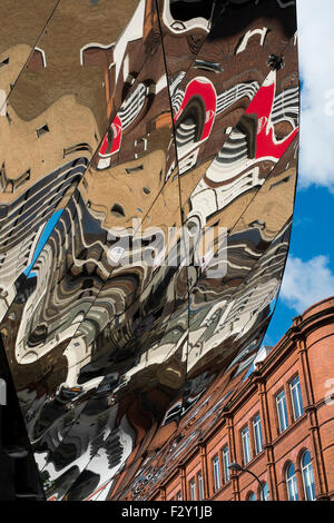 Reflections on Grand Central Shopping Centre in Navigation Street , Birmingham, West Midlands UK - Stock Photo