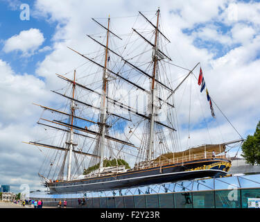 The Cutty Sark, Greenwich, London, England, UK - Stock Photo