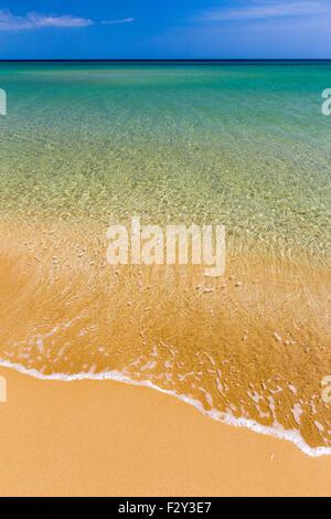 Beach of Lido di Noto, Sicily's sea. Spiaggia Lido di Noto, Sicilia. - Stock Photo