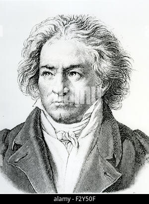 LUDWIG VAN BEETHOVEN (1770-1827)  German composer - Stock Photo
