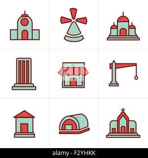 Icons Style Icons Style  Set of house icons - Stock Photo