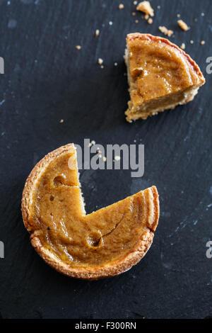 Pumpkin mini pie - Stock Photo