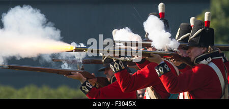 Crosby, Liverpool, Merseyside. UK 26th September, 2015. Battle of Waterloo Re-enactment and Commemorations of the - Stock Photo