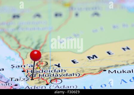 Taizz pinned on a map of Yemen Stock Photo 121288648 Alamy