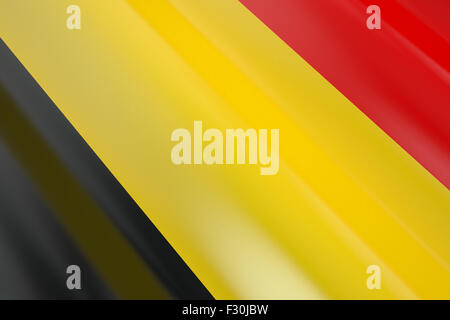 Flag of Belgium in the wind - Stock Photo
