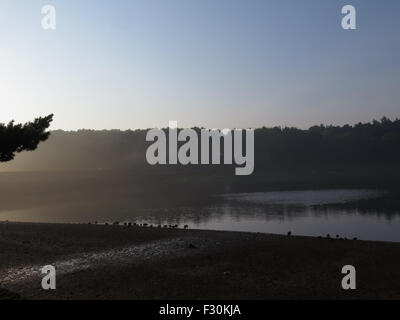 Early morning at Swinsty Reservoir in North Yorkshire - Stock Photo