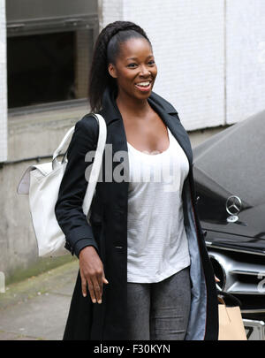 London, UK, 20th May 2015: Jamelia seen at the ITV studios in London. - Stock Photo
