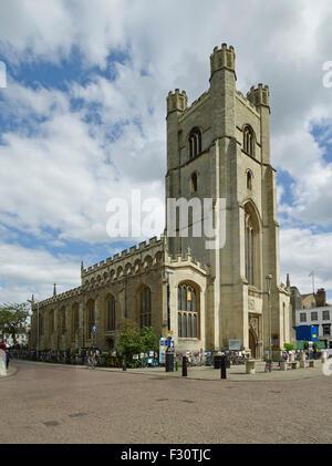 Cambridge, Church of St Mary the Great - Stock Photo