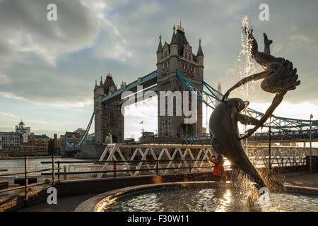 Afternoon at Tower Bridge, London, England. - Stock Photo