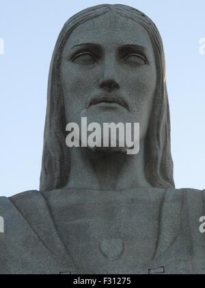 The statue of Christ the Redeemer (Cristo Rendentor) atop Mount Corcovado is seen in Rio de Janeiro, Brazil - Stock Photo