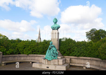 Bust and statue of Princess Marie of Orleans at Langelinie, - Stock Photo