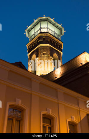 Night view of Tbilisi only mosque in Abano area of Old town - Stock Photo