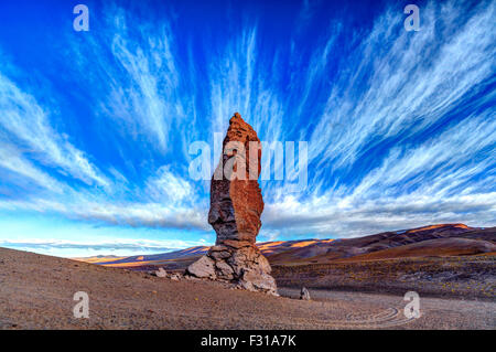 Monolithic rock  in Salar de Tara - Stock Photo