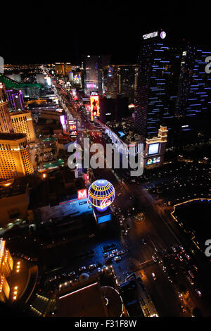The Las Vegas Strip seen from above - Stock Photo