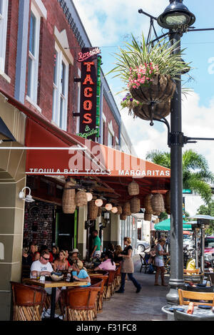 Florida, FL, South, West Palm Beach, Arts & Entertainment District, Clematis Street, Rocco's Taco & and Tequila - Stock Photo