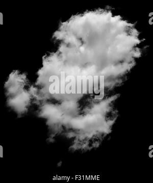 Real white and grey cloud looking like steam isolated on white background. Cloud of white smoke. - Stock Photo