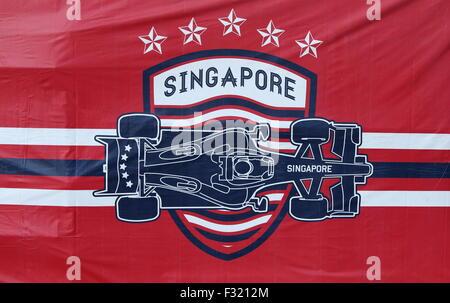 2015 Formula 1 Grand Prix at the Marina Bay Street Circuit, Singapore. - Stock Photo