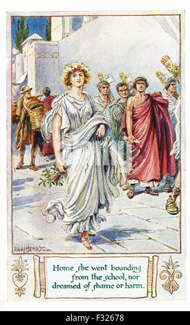 According to the ancient Roman historian Livy, Virginia (also spelled Verginia) was the daughter of the respected - Stock Photo