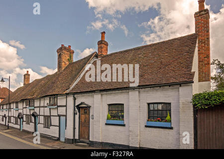 Row Of Period Cottages Pangbourne UK - Stock Photo