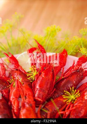 Image of freshly cooked crayfish.