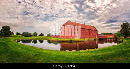 Image of Landskrona Citadel on a cloudy morning.