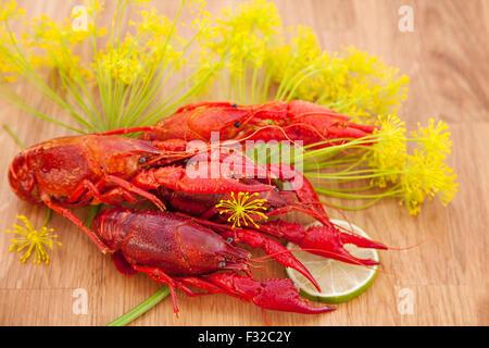 Image of fresh red crayfish.