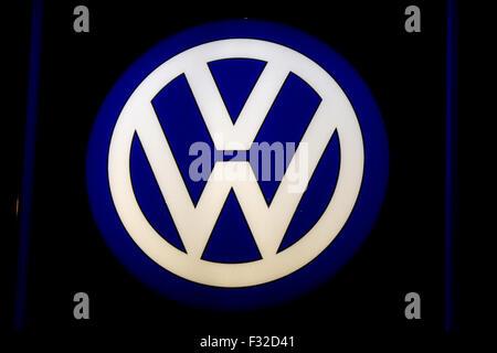 Markenname: 'VW - Volkswagen', Berlin. - Stock Photo