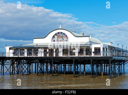 The pier in the seaside resort of Cleethorpes, Lincolnshire, England UK - Stock Photo