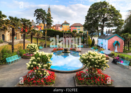 Portmeirion, Gwynedd, Wales, United Kingdom - Stock Photo