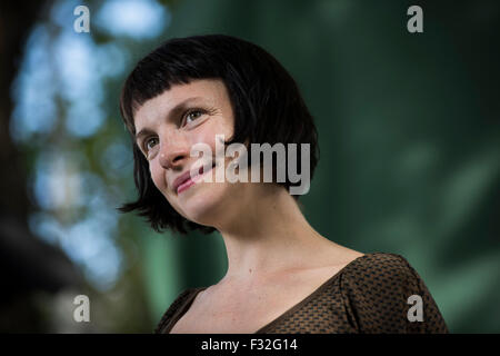 Author, musician and academic Emma Hooper. - Stock Photo