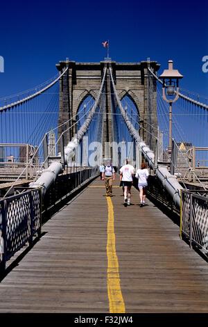 usa, new york city, brooklyn bridge - Stock Photo