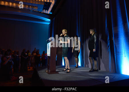 San Antonio, Texas, USA. 27th September, 2015. Republican Presidential candidate Carly Fiorina speaks to the National - Stock Photo