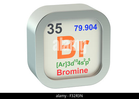 Symbol For The Chemical Element Bromine Stock Photo 59914593 Alamy