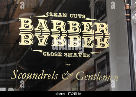 Scoundrels and Gentlemen Barber at Barton Arcade in Manchester - Stock Photo