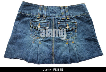 Blue denim skirts - Stock Photo