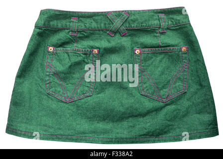 Green denim skirts - Stock Photo